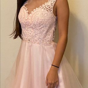 Light pink homecoming dress. Used ONCE; Brand new